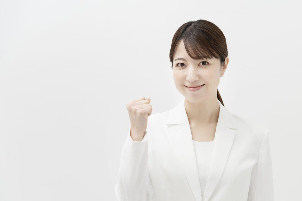 出生時両立支援コースの活用を応援する女性