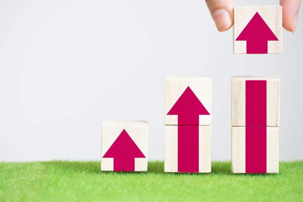 持続化補助金による業績上昇のイメージ