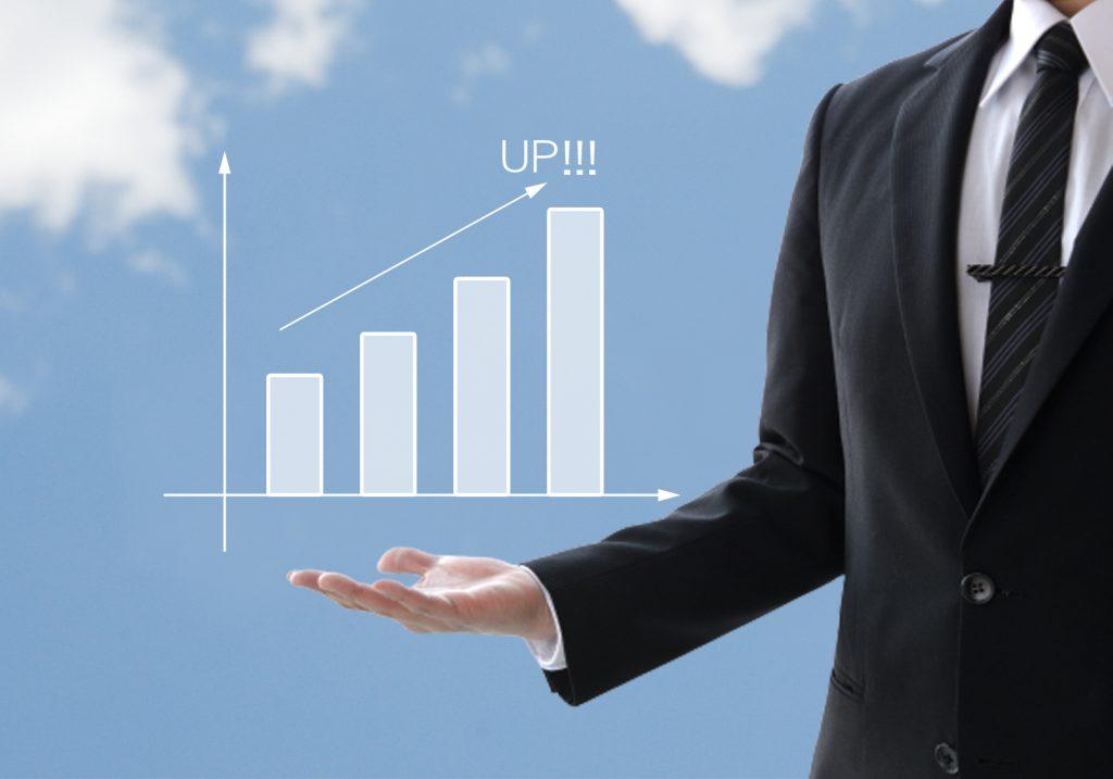 雇用関係助成金の対象となる生産性の伸びイメージ