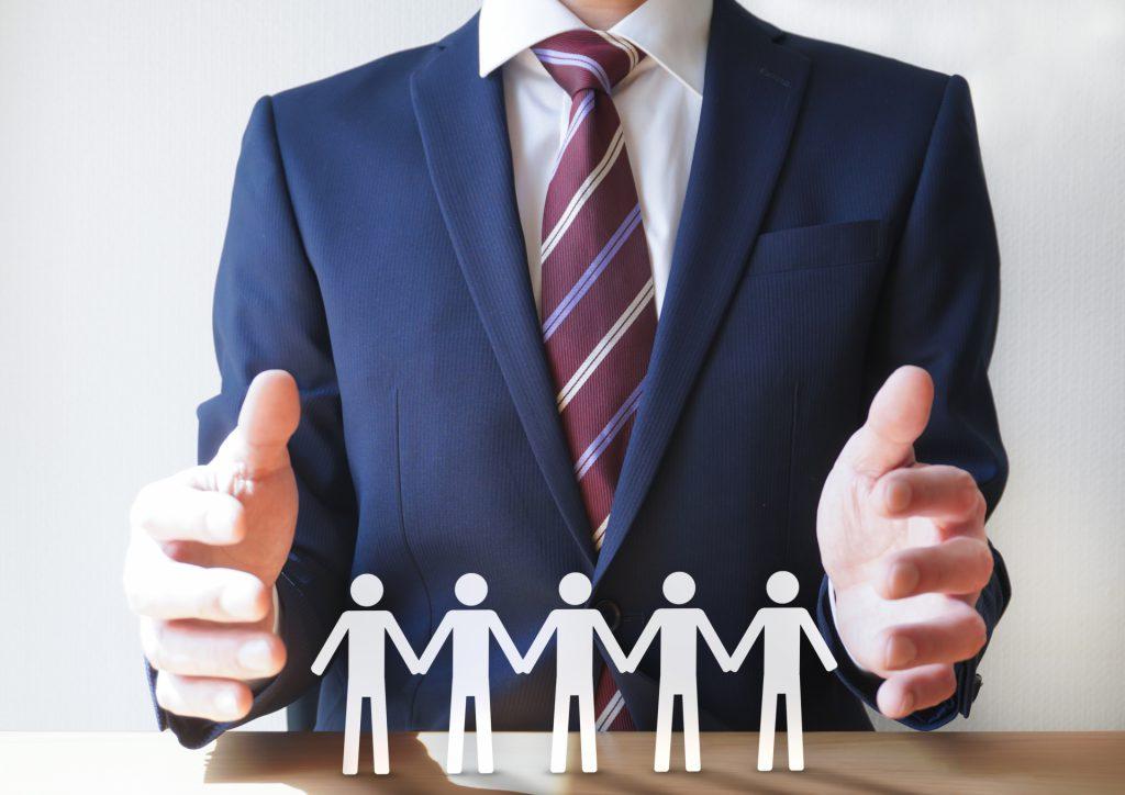 助成金を使って雇用を守るイメージ