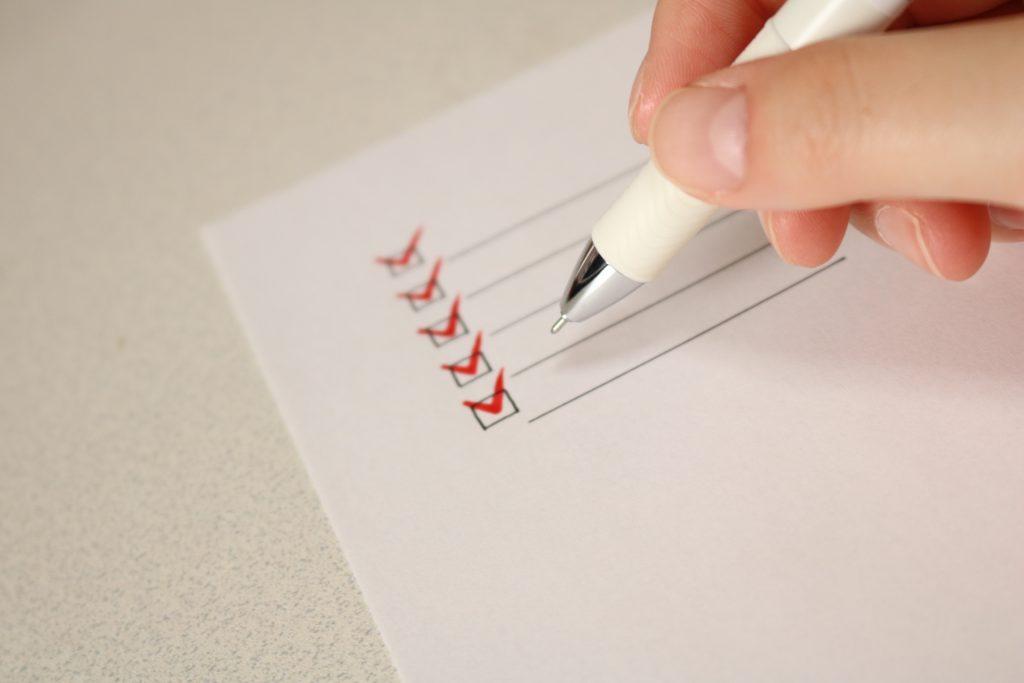 助成金申請に必要な書類のチェック