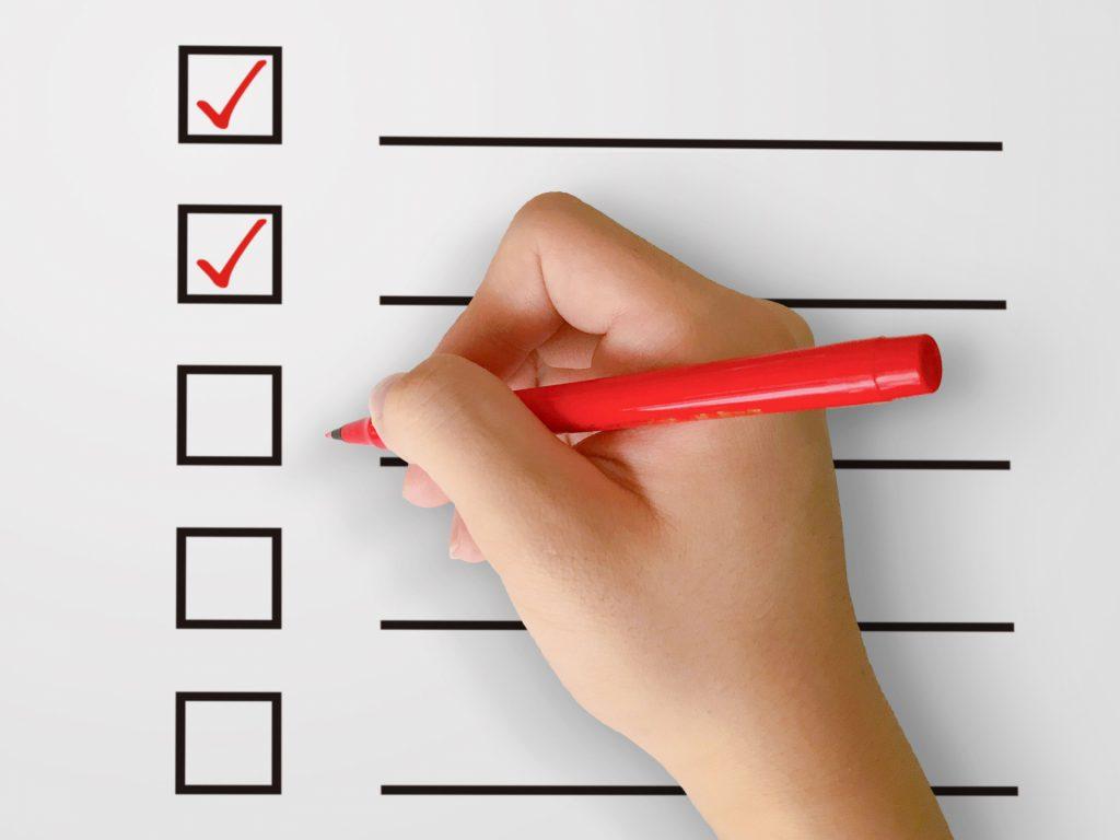 助成金申請のチェックポイントの確認リスト
