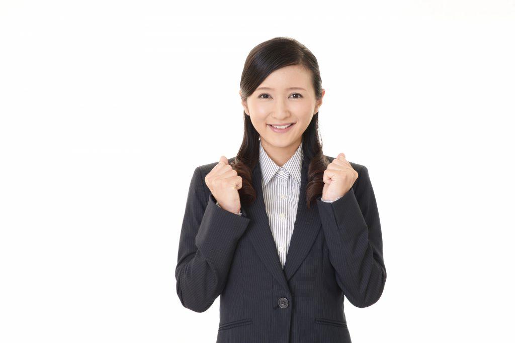処遇改善で喜ぶ女性