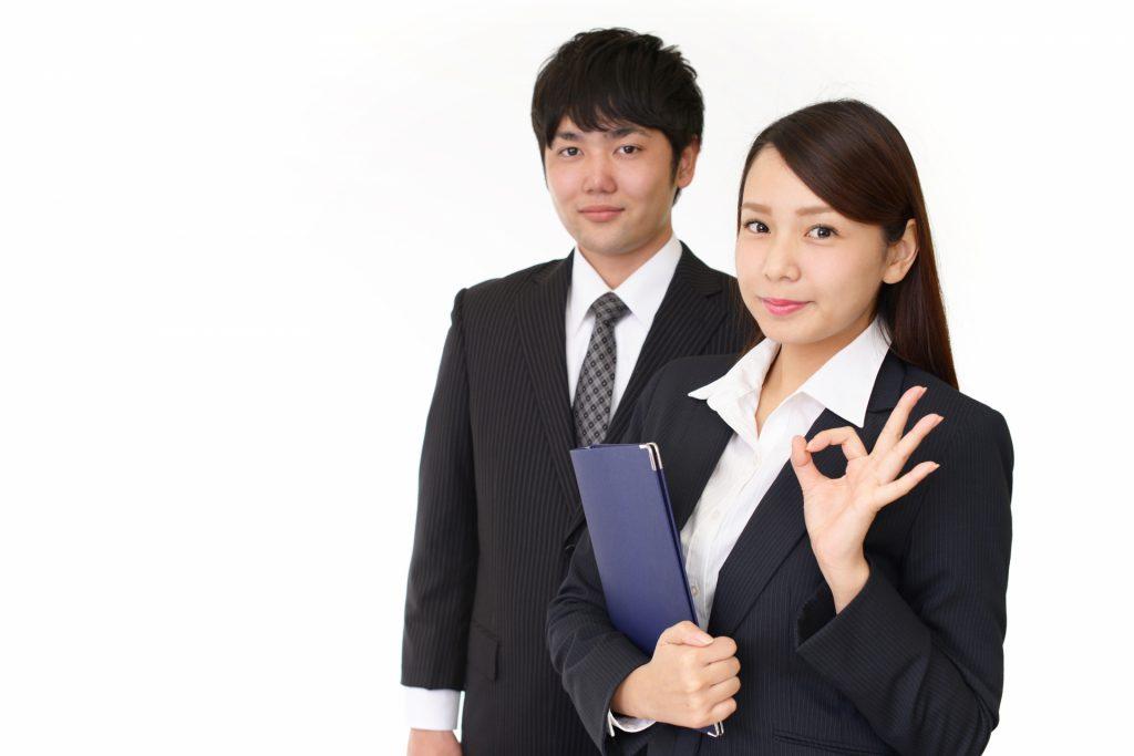 助成金の申請のプロである社会保険労務士の男女