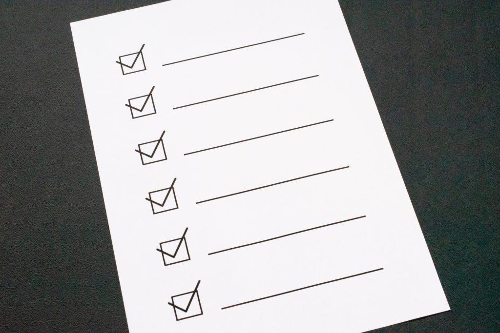 助成金の支給要件リスト
