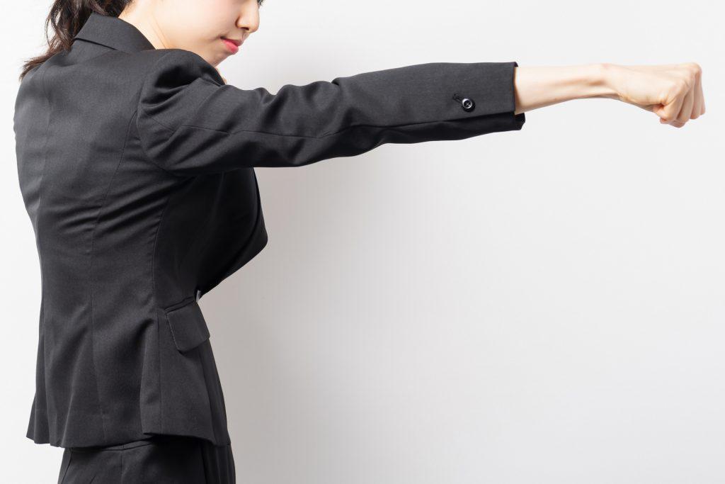 不正受給を止めようとする女性