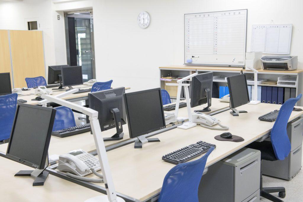 労働時間が適正管理されたオフィス