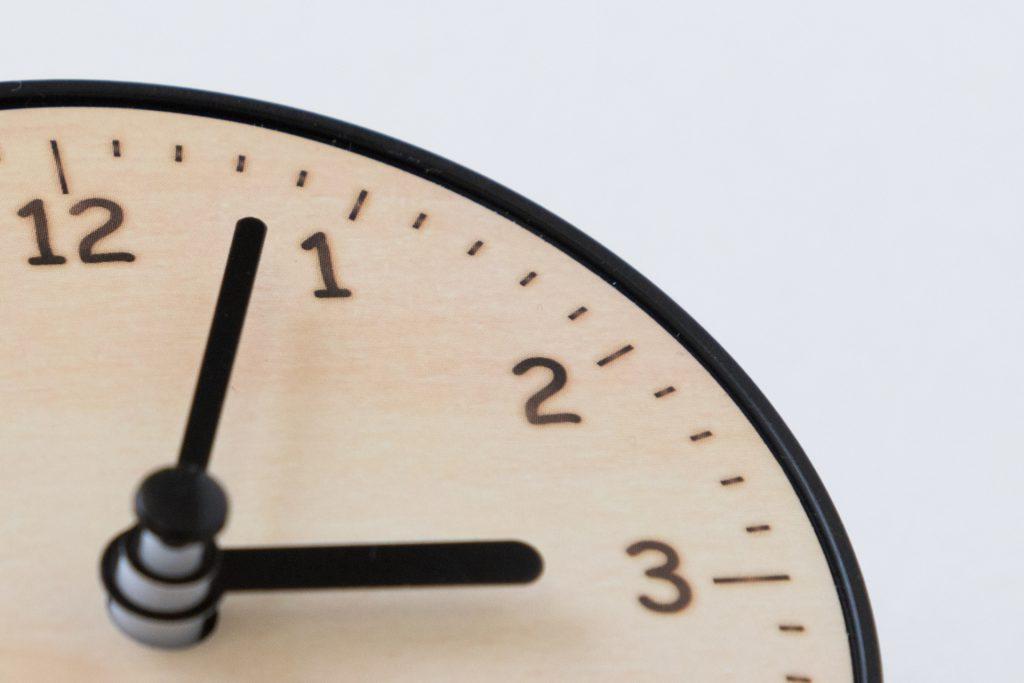 労働時間の短縮を表す時計